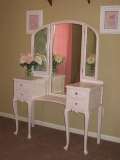 antique shabby chic vanity