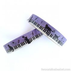 Washi Tape Mini Piano Cat - TWO CATS IN A BASKET