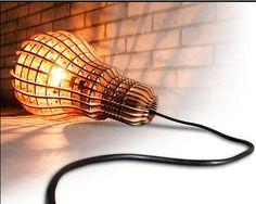 wooden light bulb