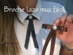 Como hacer Moños: Corbatín o Bow Brooch #1 | Video# S1 | SDetalles | DIY - YouTube