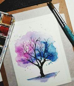 Art Drawings Sketches Simple, Pencil Art Drawings, Watercolor Art Lessons, Watercolor Paintings, Watercolour, Art Sketchbook, Aesthetic Art, Diy Art, Cute Art