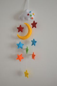 kolotoč nad postýlku; moon and stars mobile
