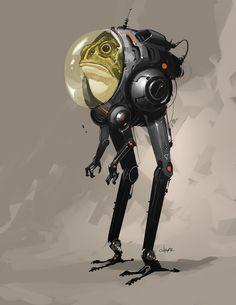 Frog Suit by Crazymic on DeviantArt – Mech Tech – erobot Alien Concept Art, Creature Concept Art, Creature Design, Robot Design, Alien Design, Character Concept, Character Art, Robots Characters, Arte Robot