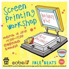 NeochaEDGE x IDLE BEATS Screen Printing Workshop