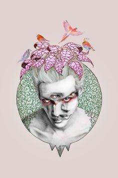 Supersonic Art: Jelena T. on INPRNT. Fantastic illustrations by. Art And Illustration, Dark Stories, 3 Arts, Boy Art, Surreal Art, Macabre, Larp, Surrealism, Contemporary Art