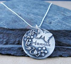 Personalized Name Pendant/Charm.Made to Order by Metalmorphis Sterling Silver Chains, Dog Tag Necklace, Keychain Ideas, Charmed, My Love, Pendant, My Style, Handmade, Etsy