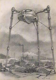 Mike Trim's 1976 War Of The Worlds Sketches — Gavin Rothery