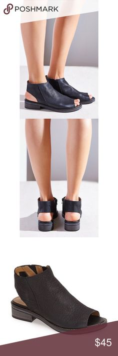Kelsi Dagger Tara leather cut out sandal bootie Great condition, black soft leather Kelsi Dagger 'Tara' sandal/booties. These will fit a wider size 7, they're true to size in length. Kelsi Dagger Shoes