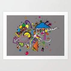 Buy Colored Doodle by Duru Eksioglu as a high quality Art Print. Worldwide shipping available at Society6.com. Just one of millions of products available.