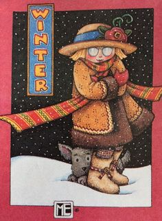 Winter-Handmade Fridge Magnet-ME Artwork
