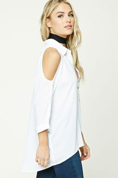 Contemporary High-Low Hem Shirt