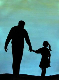 Father Daughter Paintings - Love you Dad by Surbhi Grover Father Daughter Photos, Father Daughter Tattoos, Tattoos For Daughters, Mother Daughters, Father's Day Drawings, Pencil Art Drawings, Drawings For Dad, Daddy Tattoos, Father Tattoos