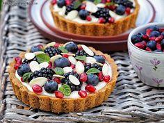 Tartaletky s domácím vanilkovým pudinkem a ovocem