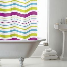 Fun and good value shower curtain - outbuilding shower?  From Terry's Fabrics