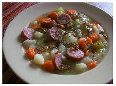 Chunky German Potato Soup  -- a traditional favorite! http://www.quick-german-recipes.com/chunky-potato-soup.html