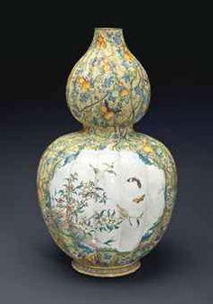 C18th qianlong mark and period enamel on copper vase, 58cm, 317K