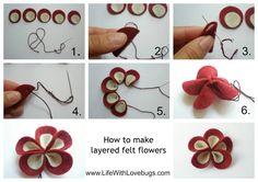 Fiore in feltro tutorial