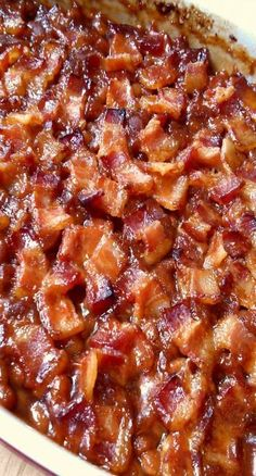 You know how you lay slices of bacon on top of baked beans and they cook up all glorious? Except tha....