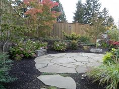 blue slate patio designgarden designflagstone - Flagstone Patio Designs