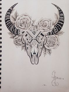 Cool Skull Tattoos For Women – My hair and beauty Cow Skull Tattoos, Cowgirl Tattoos, Western Tattoos, Bull Tattoos, Taurus Tattoos, Cute Thigh Tattoos, Badass Tattoos, Forearm Tattoos, Body Art Tattoos