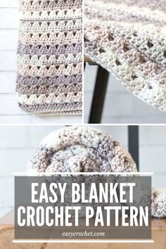 The Alissa Throw is an easy crochet blanket throw and is the perfect crocheted blanket to work in just a weekend! Get started on this easy & free crochet throw blanket pattern today! Scrap Yarn Crochet, Easy Crochet Blanket, Crochet Blanket Patterns, Crochet Blankets, Baby Blankets, Crochet Ideas, All Free Crochet, Crochet Baby, Crochet Cushion Cover