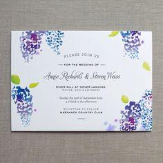 Fine Day Press lilac wedding invitation, watercolor theme