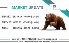 Opening Bell : The Equity Market remained under pressure in morning trade, though it recovered a bit from day's low. All sector indices except IT slipped into red. The 30-share BSE Sensex was down 398.34 points or 1.38 percent at 28398.91 and the 50-share NSE Nifty fell 129.10 points or 1.46 percent to 8737.60. About four shares declined for every share advancing on the BSE. Infosys outperformed, extending gains further. The stock was up over a percent whereas ICICI Bank, HDFC, Tata Motors…