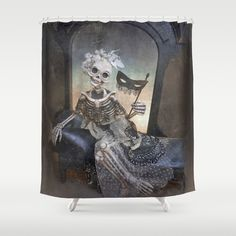 Catrina in Waiting Large Format Shower Curtain by Scott Smith | Society6