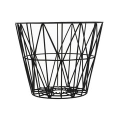Wire Basket in Black by Ferm Living str M