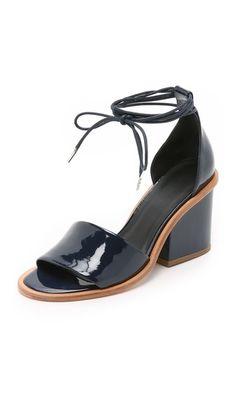 Tibi Clark Ankle Wrap Sandals