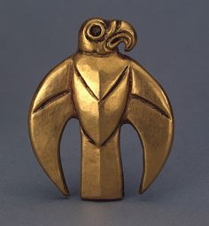 Belt Plaque   Gold; stamped. H. 6 cm  Scythian culture.  Second half of the 7th century BC  Melgunov (Litoi) Barrow, Dnieper Area, near Kirovograd  Russia (now Ukraine)  Source of Entry:  Kunstkammer, St Petersburg.  1859