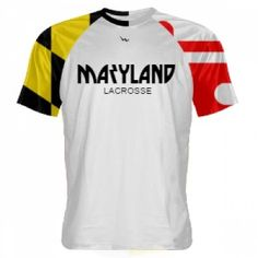 Maryland Flag Lacrosse Shirt | MD Flag Shirt | Flag Shirts