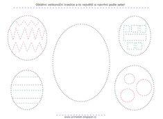 Velikonoce, grafomotorika, pracovní list, vajíčka, kraslice. Crafts, Crafting, Handmade Crafts, Diy Crafts, Arts And Crafts, Craft
