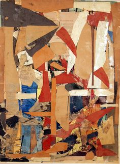 "Romare Bearden, Collage Side of ""Untitled (double-sided)"" (1956)"