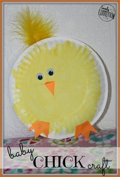 chick easter craft from Lovely Commotion.