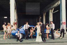 Blue. Bridesmaids. Wedding. Love.