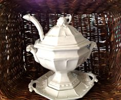 Vintage RedCliff Ironstone Tureen with Ladle by DiscoveredVintage, $150.00