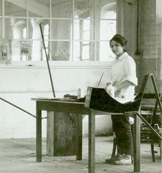Eva Hesse in her Kettwig Studio, Germany 1965 and 1964