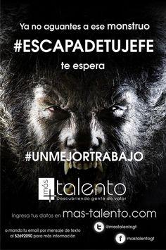 """Pieza """"hombre lobo"""" de campaña de atracción de talento humano #escapadetujefe"""