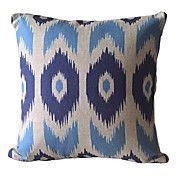 <> Big Eye Cotton/Linen Decorative Pillow Cover – USD $ 14.99