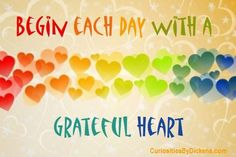 Begin each day with a grateful