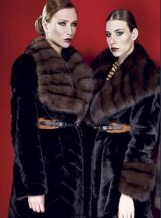 Blackglama Mink and Russian Sable Fur Coats