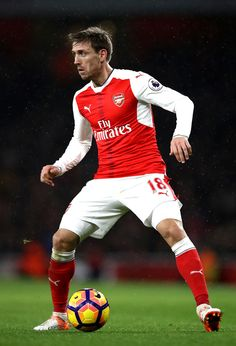 Nacho Monreal Photos - Nacho Monreal of Arsenal in action during the Premier League match between Arsenal and Stoke City at the Emirates Stadium on December 2016 in London, England. - Arsenal v Stoke City - Premier League Arsenal Football, Arsenal Fc, Stoke City, Premier League Matches, Old Trafford, Fa Cup, Animal Quotes, Psg, Manchester City