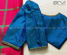 Embroidery for classy lovers Kids Blouse Designs, Hand Work Blouse Design, Simple Blouse Designs, Stylish Blouse Design, Designer Blouse Patterns, Fancy Blouse Designs, Saree Blouse, Blouse Neck, Embroidery Stitches