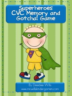 My guys are super hero crazy and my class loves this game format! This activity includes 72 CVC word cards that are easily decodab. Superhero Kindergarten, Superhero Classroom, Superhero Party, Love Speech, Word Work Activities, Phonics Reading, Literacy Stations, Memory Games, Early Literacy