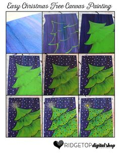 Ridgetop Farm and Garden   12 Days of December   Easy Christmas Tree Canvas Painting   Tutorial   DIY