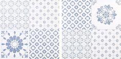 Colours Blue & White Patchwork Effect Self Adhesive Vinyl Tile Pack 1.02m² | Departments | DIY at B&Q