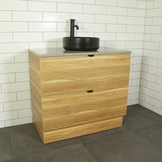 Buy Como Timber Floor Mount Vanity Cabinet without Top from Highgrove Bathrooms. Leaders in bathroom, kitchen and wet area design. Vanity Units, Vanity Cabinet, Timber Flooring, Modern Bathroom Design, Storage, Bathrooms, Furniture, Annex, Home Decor