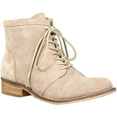 Steven By Steve Madden Fairmond Suede Lace-Up ($100) ❤ liked on Polyvore