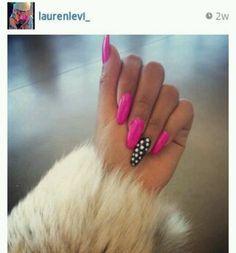 Pink x Polka Dot Nails